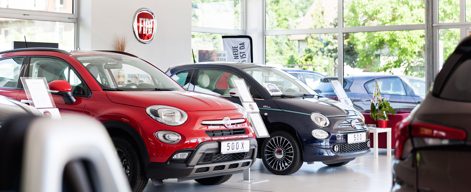 Verkauf und Service Fiat-Pkw und Fiat-Transporter